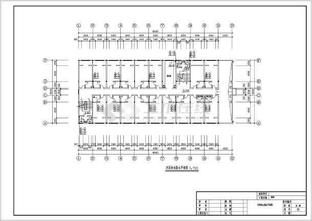 宿舍楼建筑给排水施工图纸-图2