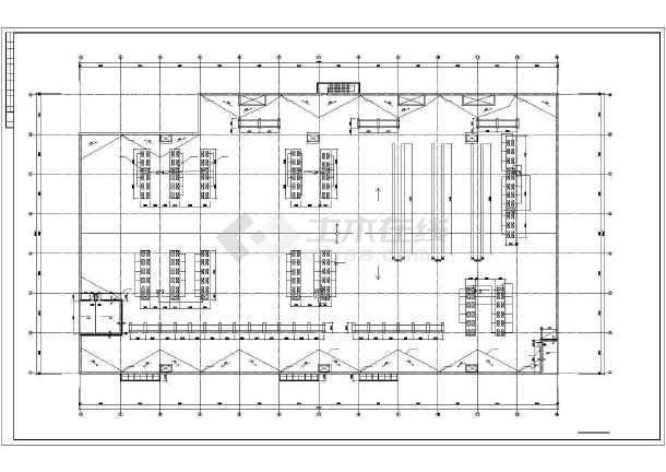 [大连]电子厂房暖通空调施工图-图1