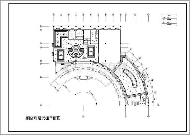 某宾馆酒店装修设计cad施工图-图1