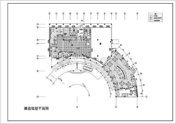 某宾馆酒店装修设计cad施工图-图2