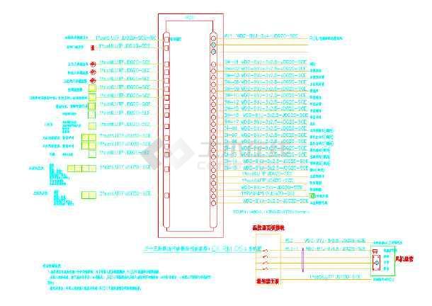 酒店客房RCU系统及平面大样图-图1