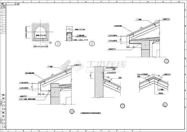 【施工图】某坡屋顶水泵主房施工图_cad图纸下载_土木