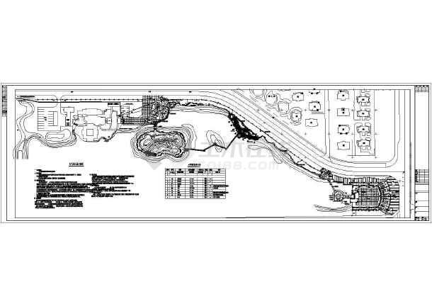 某湿地公园供电照明cad设计图-图1