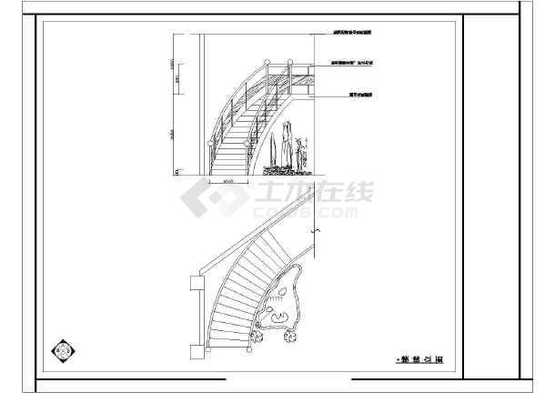 某酒店装修设计cad施工图-图2