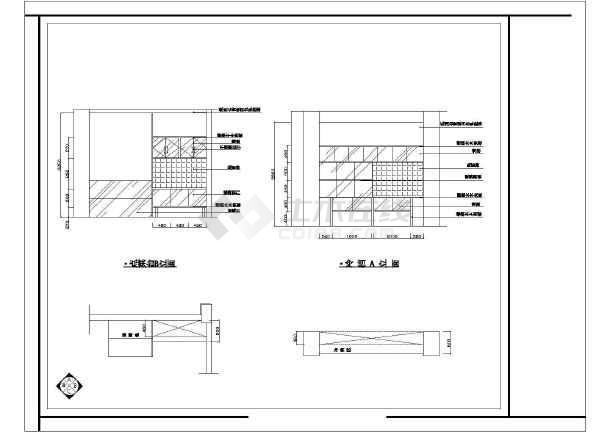 某酒店装修设计cad施工图-图3