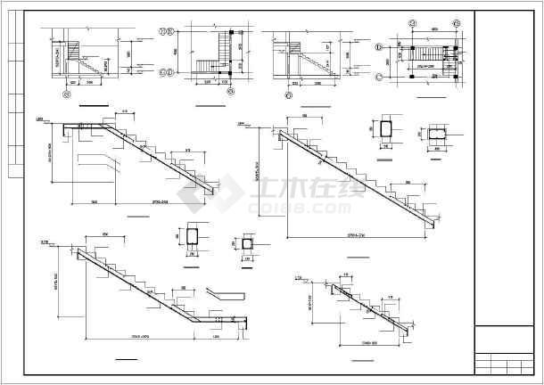 六层框架结构住宅楼结构施工图(筏板基础知名设计院)