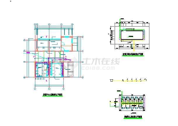 三套公共厕所给排水专业设计图纸-图2