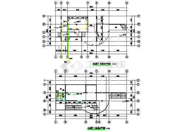 三套公共厕所给排水专业设计图纸-图3