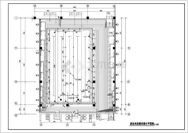 [北京]游泳池暖通及给排水系统设计图纸-图1