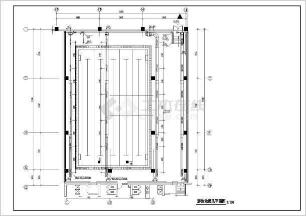 [北京]游泳池暖通及给排水系统设计图纸-图2