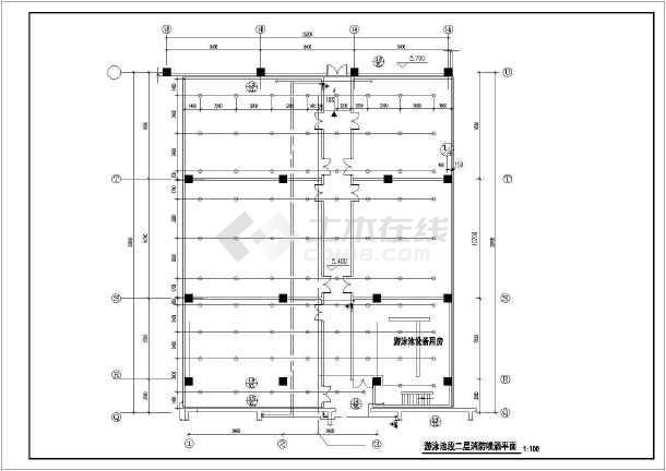 [北京]游泳池暖通及给排水系统设计图纸-图3