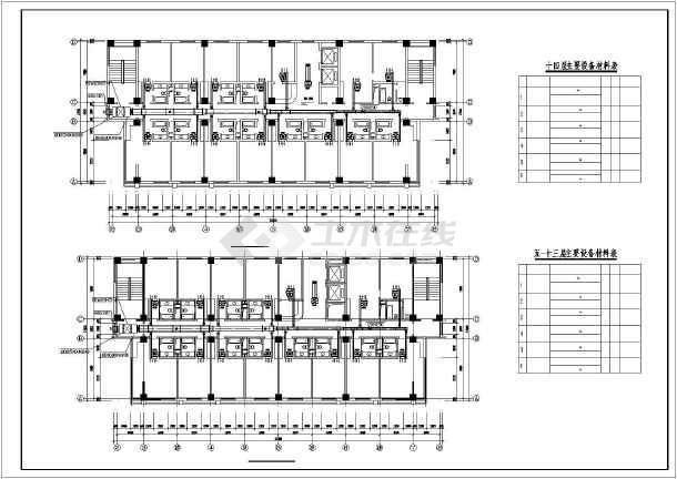 宾馆暖通空调设计施工图-图1