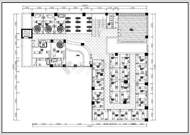 某地整套美容院装修cad设计施工图纸-图2