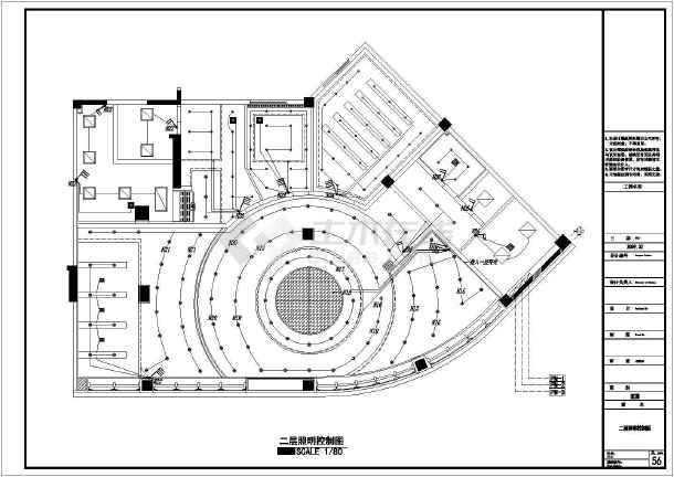 某市银行装饰工程设计CAD竣工图-图1
