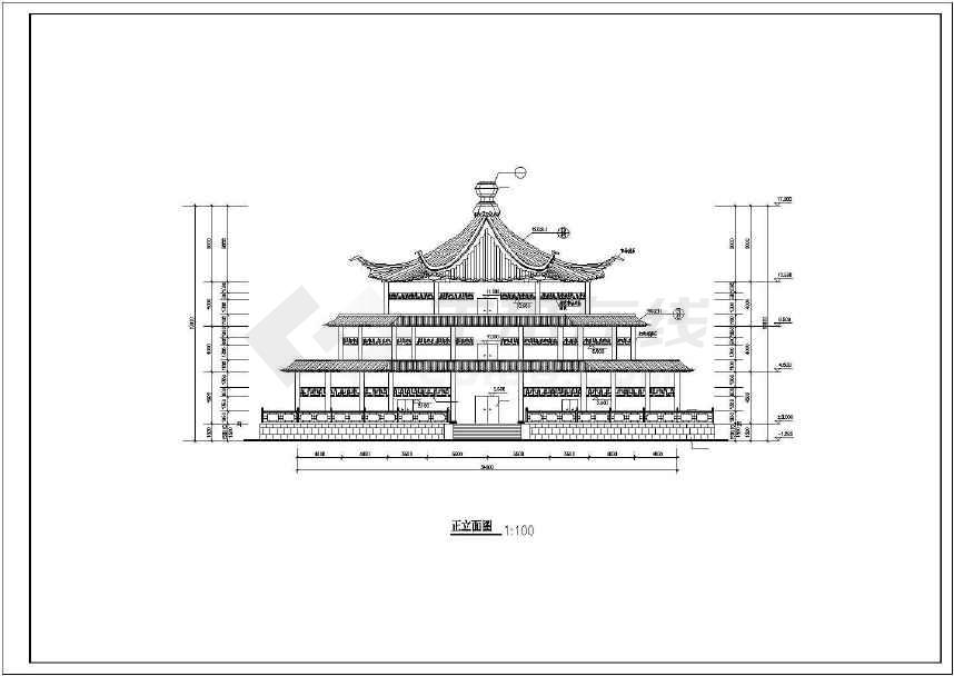 三层古建建筑图(共8张)-图2