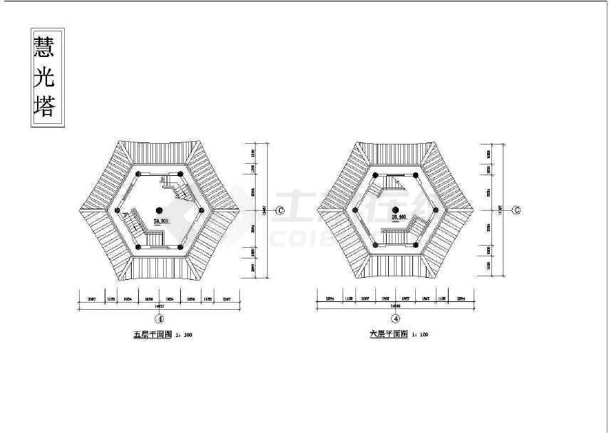 砖混结构古塔建筑图