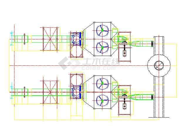 2*130吨锅炉烟气半干法脱硫除尘设计CAD图纸-图1