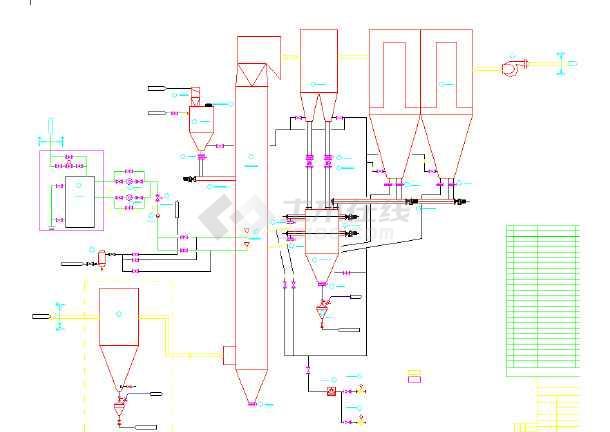 2*130吨锅炉烟气半干法脱硫除尘设计CAD图纸-图2