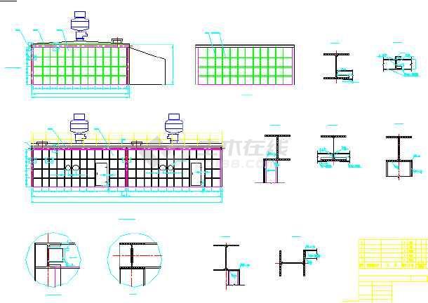 2*130吨锅炉烟气半干法脱硫除尘设计CAD图纸-图3