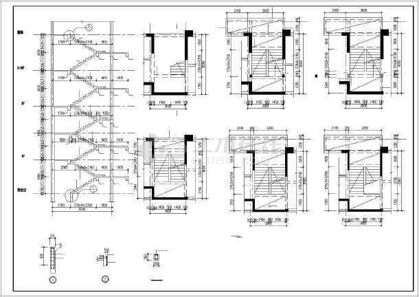 框剪综合楼结构施工图-图1
