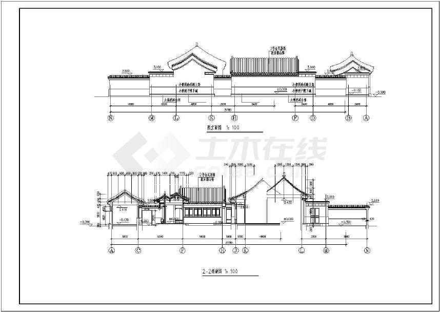 一套小型四合院住宅方案图纸-图2