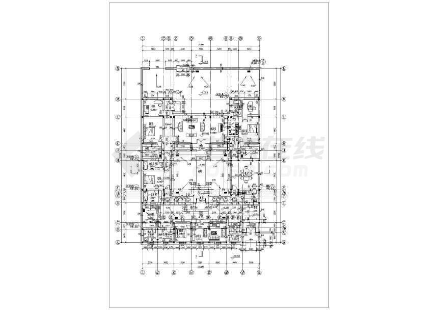 一套小型四合院住宅方案图纸-图3