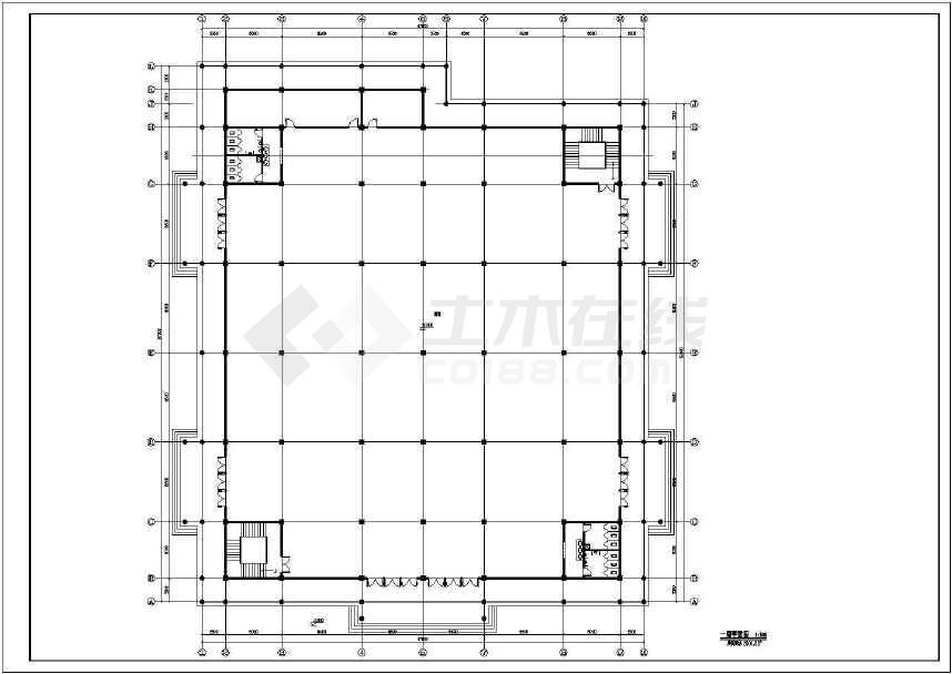现代仿古建筑服务中心建筑图-图3