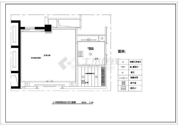 某酒店标准客房家装cad布置施工图-图1