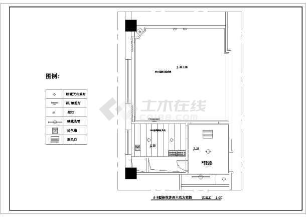 某酒店标准客房家装cad布置施工图-图3
