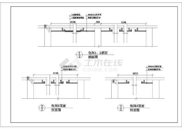 比较详细的三层酒店装修设计图纸(共60张)-图3