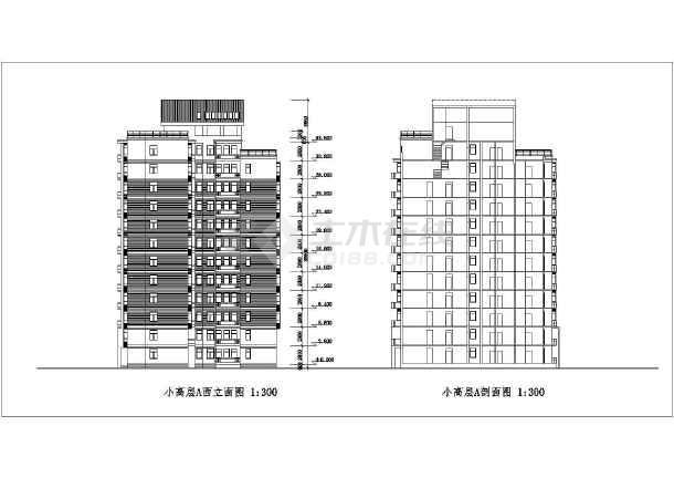 某地小工装高层建筑cad户型(共18张)图纸cad免费下载块图图片