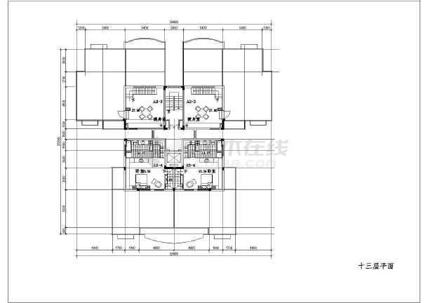 某地小图纸高层建筑cad户型(共18张)辰浩cad版v图纸图片