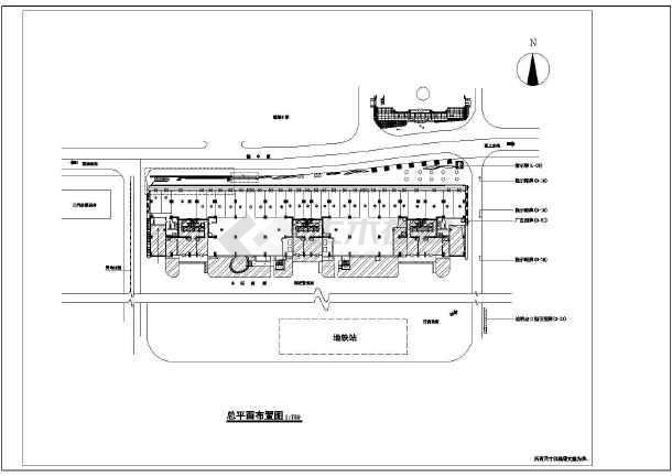 某市花园商业街详细装修CAD设计施工图-图2