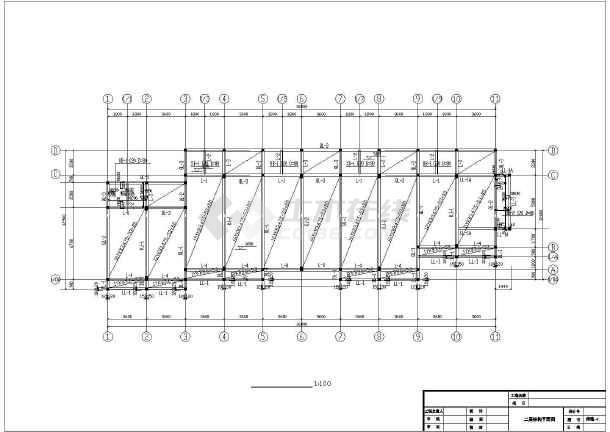 一整套详细仿古建筑施工cad设计图纸-图1