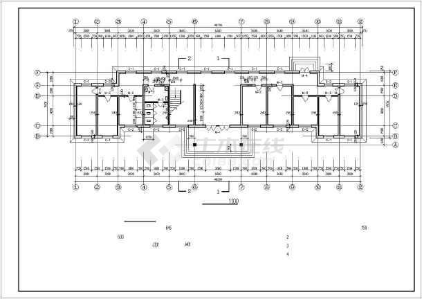 楼建筑设计cad施工图,内容包括:西立面图,北立面图,一层平面图等图纸图片