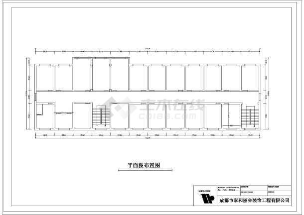 一套网吧电气线路强电弱电cad施工图纸-图3