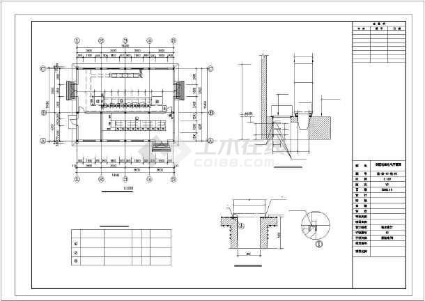 临海某省污水处理厂cad电气设备施工图-图2