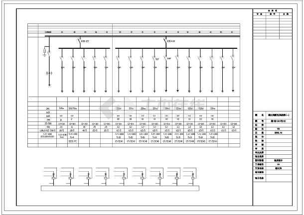 临海某省污水处理厂cad电气设备施工图-图3