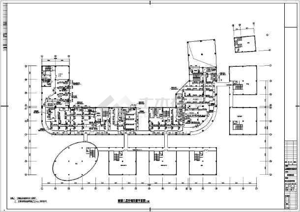 某国际五星级宾馆暖通cad施工设计图-图1