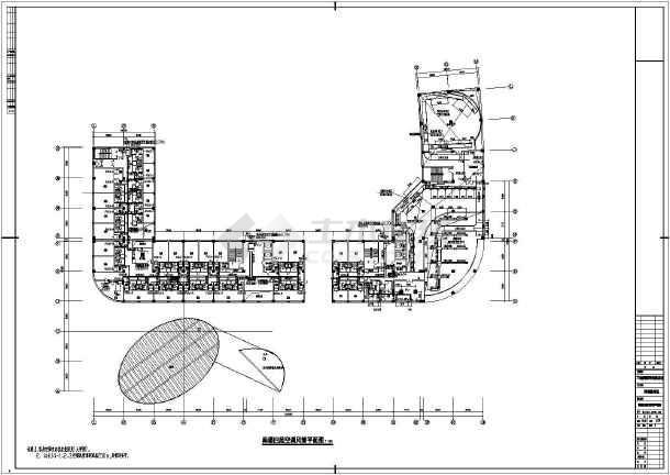 某国际五星级宾馆暖通cad施工设计图-图2