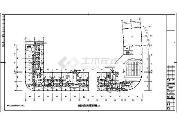 某国际五星级宾馆暖通cad施工设计图-图3