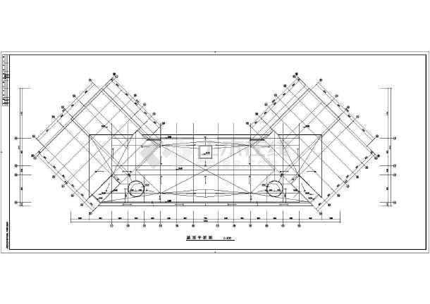 某消防大队教学楼装修设计cad平面施工图