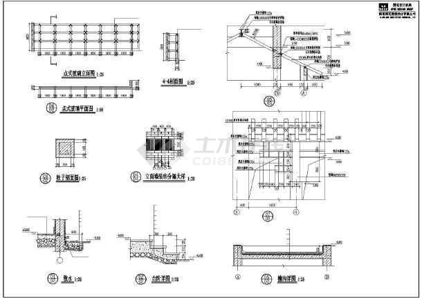 某别墅小区特色大门建筑设计施工CAD图-图3