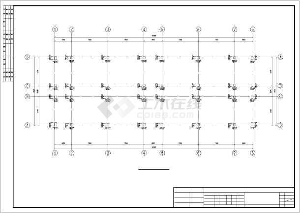 四层框剪结构武警营房结构施工图-图1