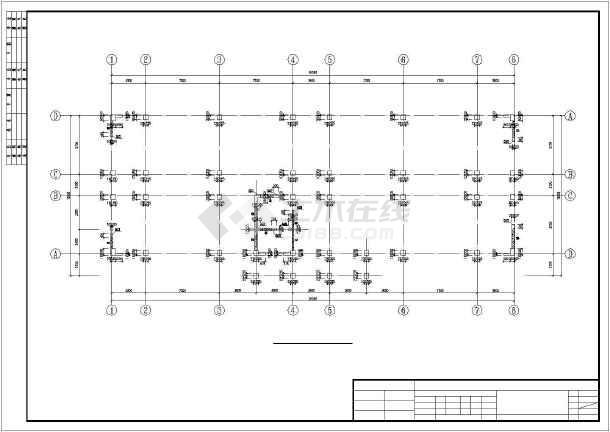 四层框剪结构武警营房结构施工图-图2