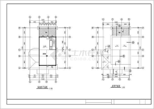某地带阁楼别墅建筑施工图(共5张)-图1