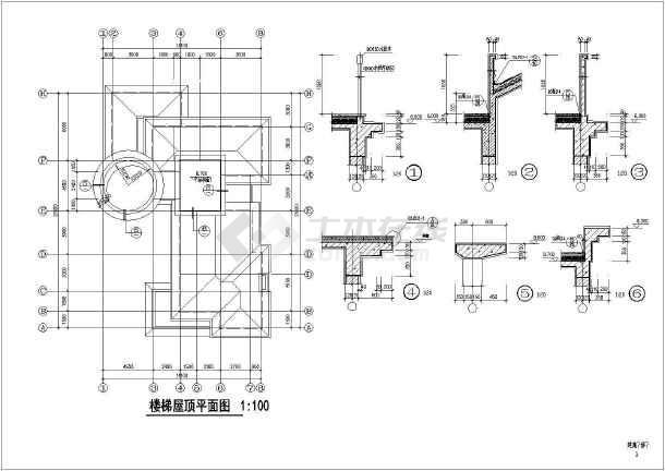某地大型两层独立豪华别墅建筑施工图(共13张)-图1