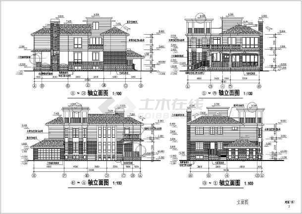 某地大型两层独立豪华别墅建筑施工图(共13张)-图3