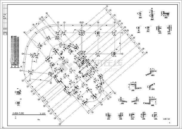 [绍兴]广场综合楼框剪结构施工图-图3