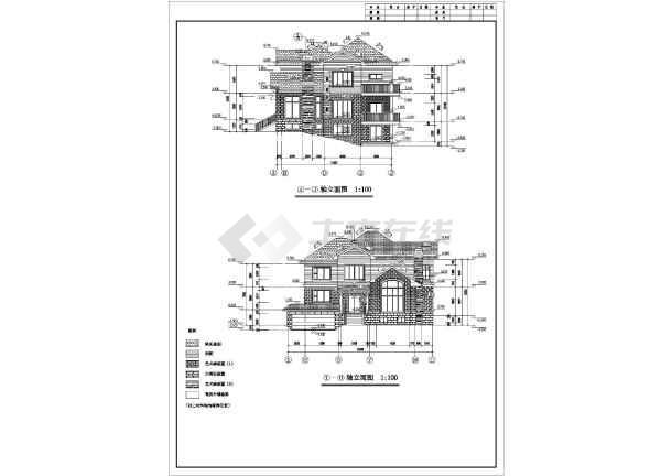 某地高档别墅T型建筑施工图-图2